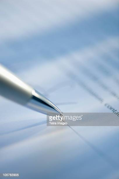 Pen and legal document