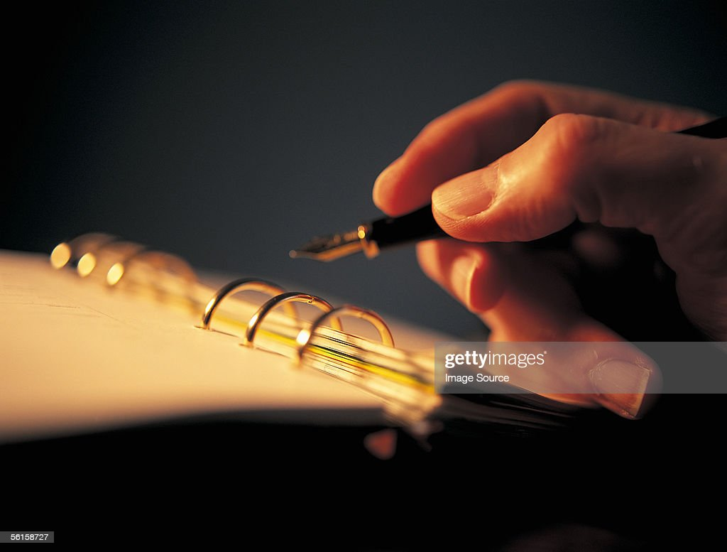 Pen and paper : Stock Photo