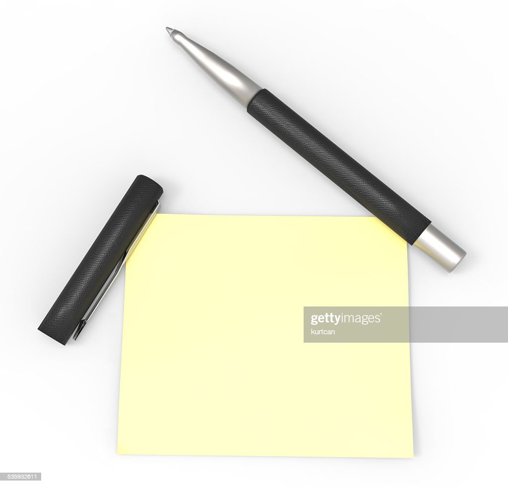 pen and post it : Stock Photo