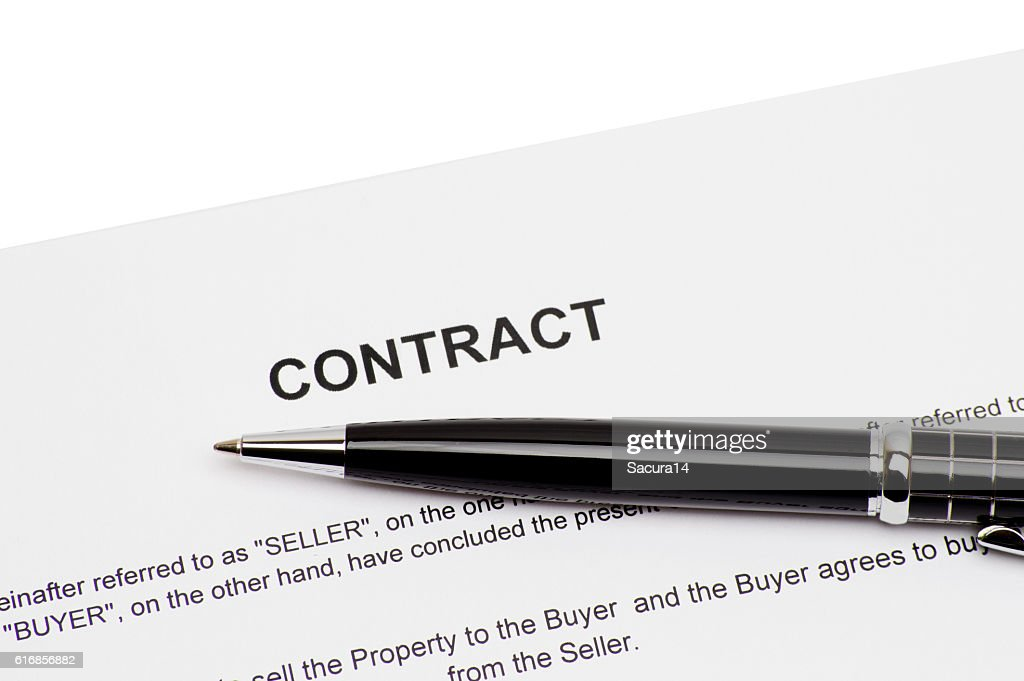 pen on contract. : Stock Photo