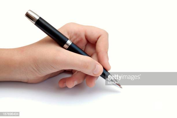 Pen on white background