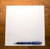 pen paper desk
