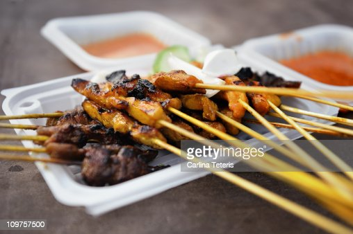 Penang mix satay : Stock Photo