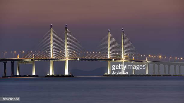Penang second bridge light up