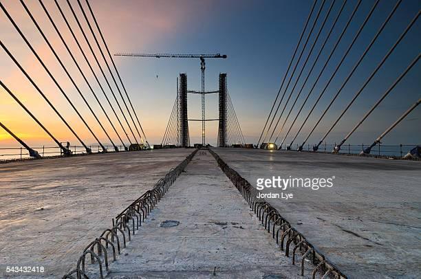 Penang second bridge under construction