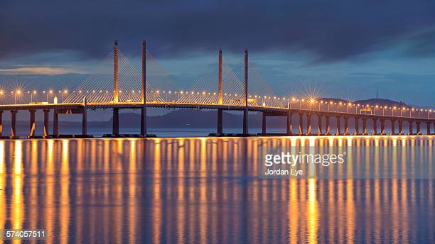 Penang Second bridge with reflection