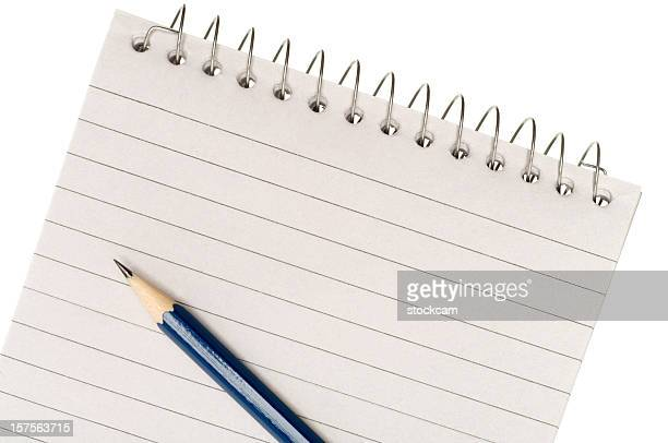 Pencil and blank white paper