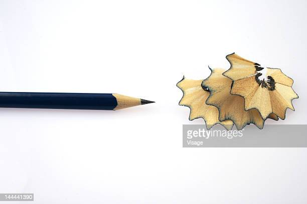 Pencil and pencil shavings