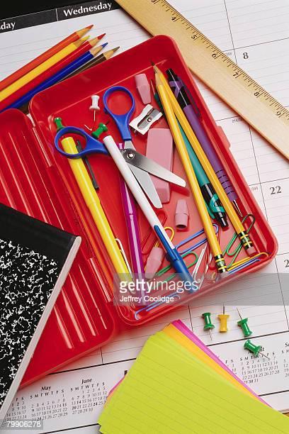 Pencil Box and School Supplies