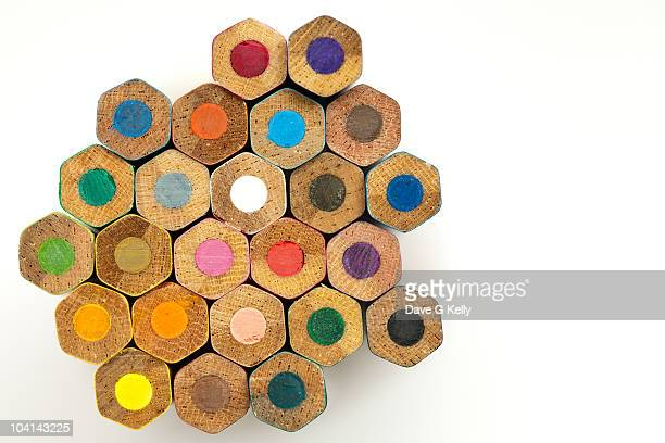 Pencil Hexagons