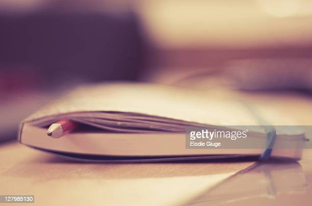 Pencil in book