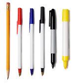 'Pencil, Pens, Marker, Highlighter'