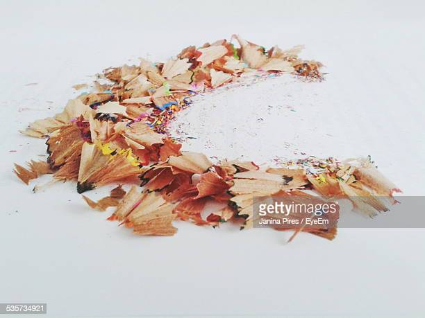 Pencil Shavings On Table