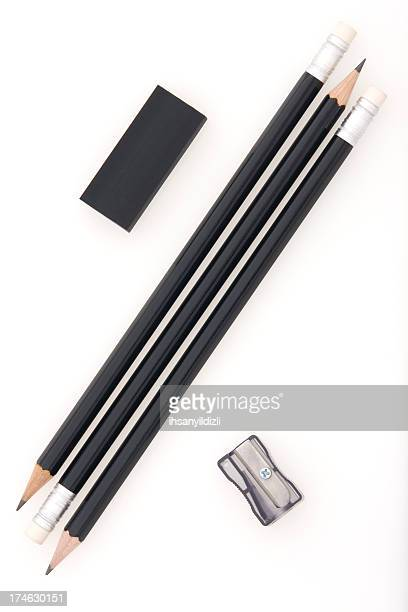 Pencil,Eraser and Sharpener