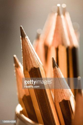 Pencils macro : Stock Photo