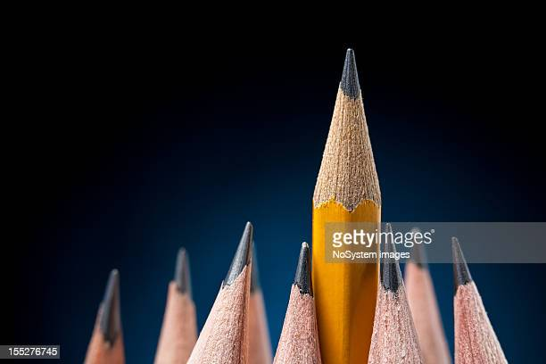 Pencils. Support and leadership concept