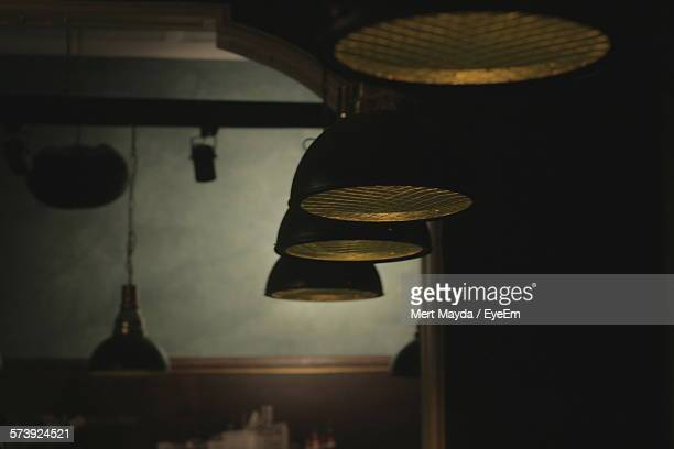 Pendant Lights Hanging In Cafe