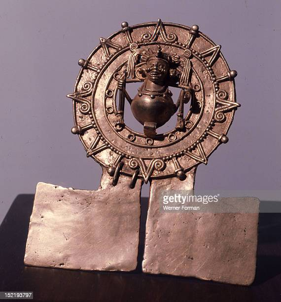Pendant representing the sun Mexico Mixtec Monte Alban V Postclassic Zaachila