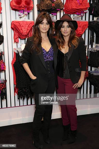 Penelope and Monica Cruz attends the opening of the 1st L'Agent by Agent Provocateur London Boutique at L'Agent by Agent Provocateur London Boutique...