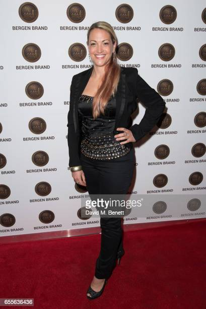 Penelope Brooke Hamilton attends the Bergen Brand Handbag launch at Wolf Badger on March 16 2017 in London England