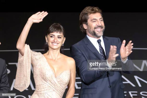 Penelope Cruz and Javier Bardem attend 'Loving Pablo' photocall during 65th San Sebastian Film Festival on September 30 2017 in San Sebastian Spain