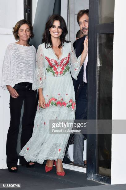 Penelope Cruz and Javier Bardem attend the 'Loving Pablo' photocall during the 74th Venice Film Festival on September 6 2017 in Venice Italy