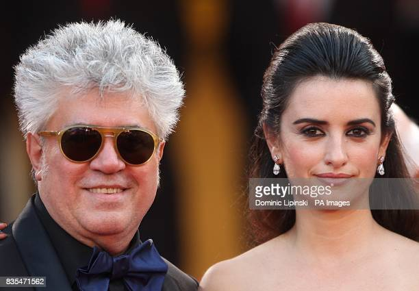 Penelope Cruz and Pedro Almodovar arriving for the official screening of Broken Embraces at the Palais de Festival during the 62nd Cannes Film...