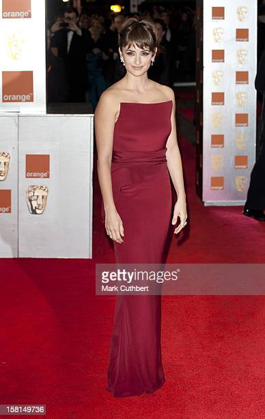 Penelope Cruz Arriving For The 2012 Orange British Academy Film Awards At The Royal Opera House Bow Street London