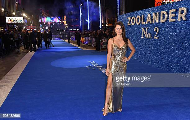 Penelope Cruz attends a London Fan Screening of the Paramount Pictures film 'Zoolander No 2' at the Empire Leicester Square on February 4 2016 in...