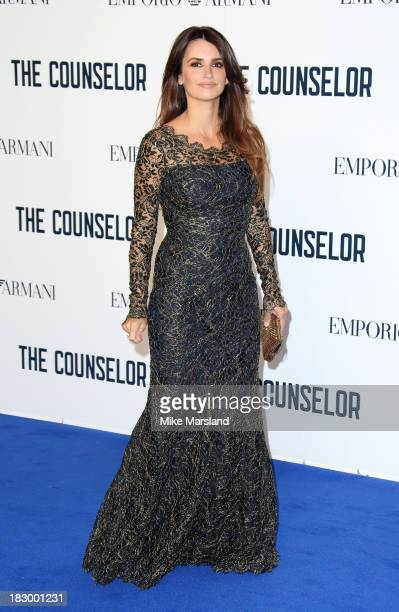 Penelope Cruz attends a special screening of 'The Counselor' at Odeon West End on October 3 2013 in London England