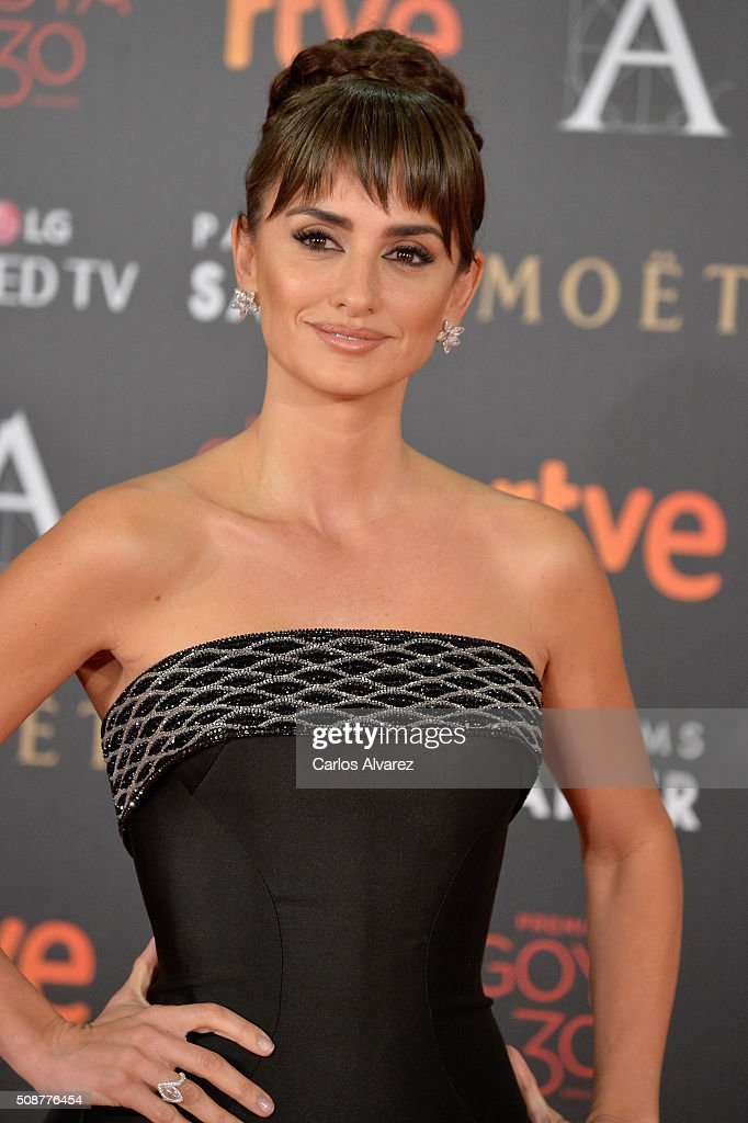 <a gi-track='captionPersonalityLinkClicked' href=/galleries/search?phrase=Penelope+Cruz&family=editorial&specificpeople=171775 ng-click='$event.stopPropagation()'>Penelope Cruz</a> attends Goya Cinema Awards 2016 at Madrid Marriott Auditorium on February 6, 2016 in Madrid, Spain.