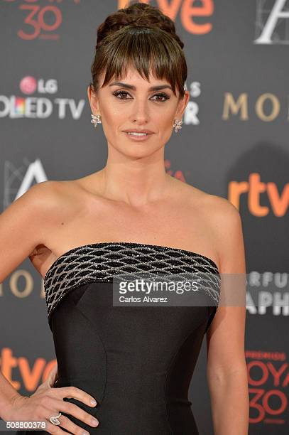 Penelope Cruz attends Goya Cinema Awards 2016 at Madrid Marriott Auditorium on February 6 2016 in Madrid Spain