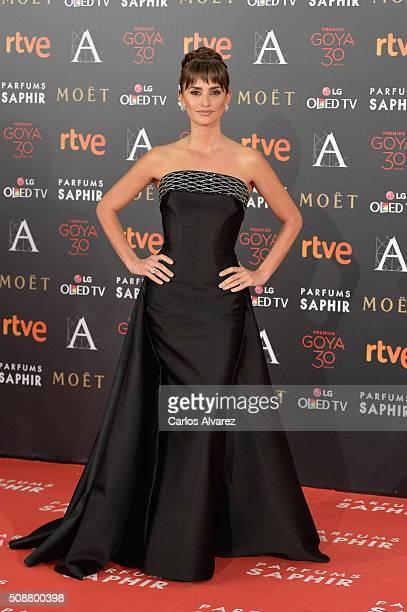 Penelope Cruz attends Goya Cinema Awards 2016 at Madrid Marriott Auditorium on February 6 2016 in Madrid Spain