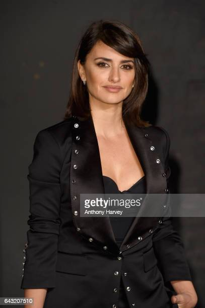 Penelope Cruz attends the Burberry show during the London Fashion Week February 2017 collections on February 20 2017 in London England