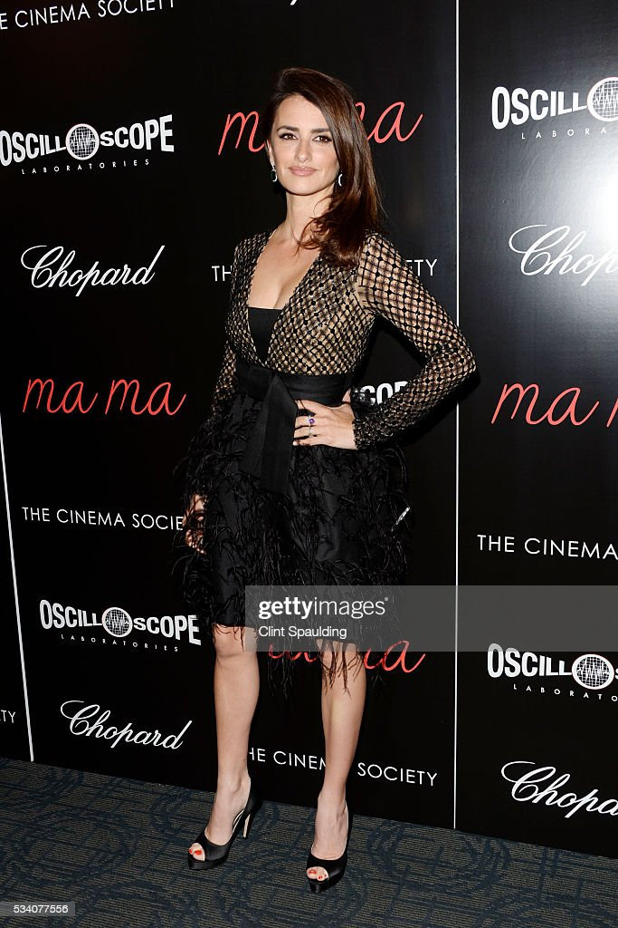 Penelope Cruz attends The Cinema Society and Chopard Host a Screening of Oscilloscope's 'ma ma' at Landmark Sunshine Theatre on May 24, 2016 in New York City.