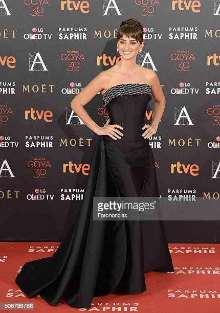 Penelope Cruz attends the Goya Cinema Awards 2016 Ceremony at Madrid Marriott Auditorium on February 6 2016 in Madrid Spain