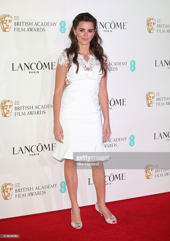 Penelope Cruz attends the Lancome BAFTA nominees party at Kensington Palace on February 13 2016 in London England