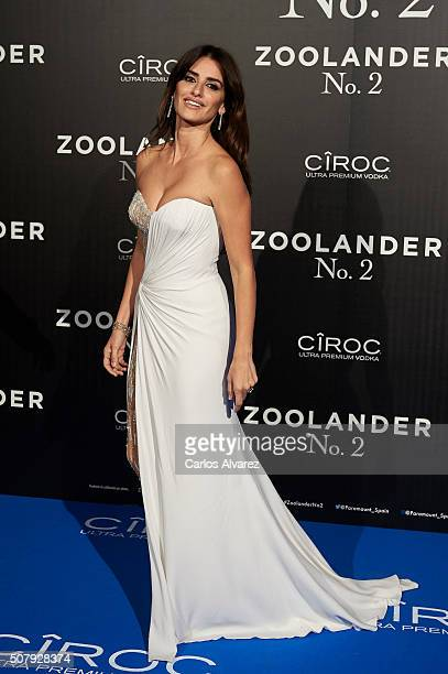 Penelope Cruz attends the Madrid Fan Screening of the Paramount Pictures film 'Zoolander No 2' at the Capitol Theater on February 1 2016 in Madrid...