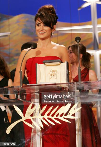 Penelope Cruz during 2006 Cannes Film Festival Palme D'Or Ceremony at Palais des Festivals in Cannes Cannes France