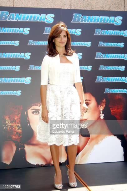 Penelope Cruz during 'Bandits' Photocall with Penelope Cruz at Villamagna Hotel in Madrid Spain