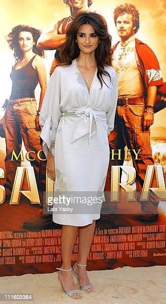 Penelope Cruz during 'Sahara' Madrid Photocall at Villa Magna Hotel in Madrid Spain