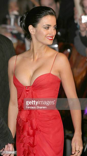 Penelope Cruz during 'The Last Samurai' UK Premiere Arrivals at Odeon Cinema Leicester Square in London Great Britain