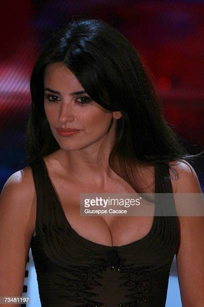Penelope Cruz is seen on stage during the fourth day of the 57th Sanremo Music Festival at Tetro Ariston on March 2 2007 in Sanremo Italy