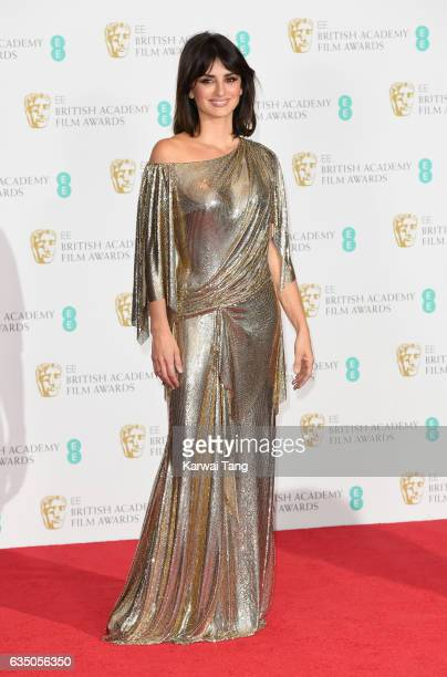 Penelope Cruz poses in the winners room at the 70th EE British Academy Film Awards at the Royal Albert Hall on February 12 2017 in London England