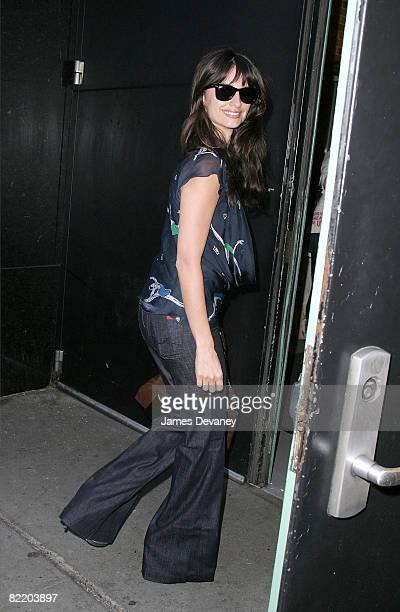 Penelope Cruz visits ABC's 'Good Morning America' at ABC Studios on August 7 2008 in New York City