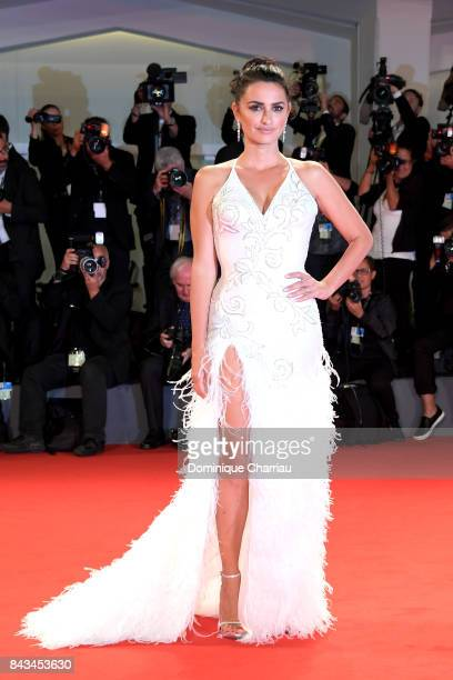 Penelope Cruz walks the red carpet ahead of the 'Loving Pablo' screening during the 74th Venice Film Festival at Sala Grande on September 6 2017 in...