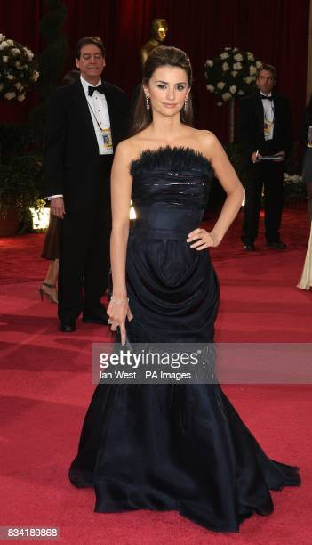 Penelope Cruz wearing Chanel arrives for the 80th Academy Awards at the Kodak Theatre Los Angeles