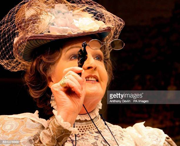 Penelope Keith as Lady Bracknell in The Importance Of Being Earnest during a photocall at the Vaudeville Theatre The Strand London
