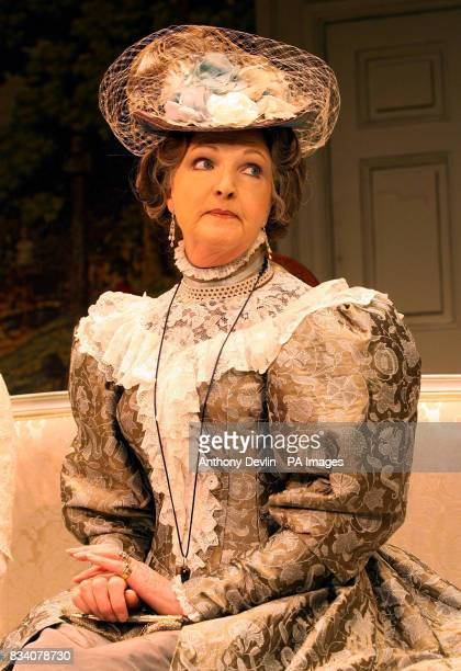 Penelope Keith stars as Lady Bracknell in The Importance Of Being Earnest during a photocall at the Vaudeville Theatre The Strand London