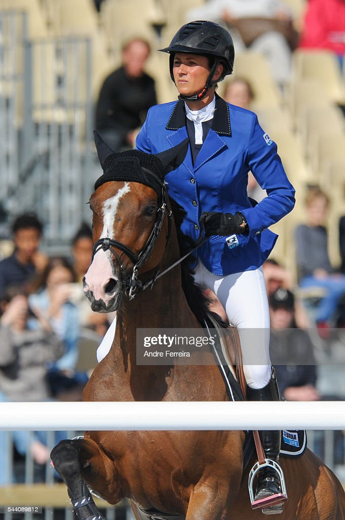 Penelope Leprevost and Ratina d'la Rousserie during the Longines Paris Eiffel Jumping on July 1, 2016 in Paris, France.